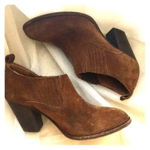 Frye brown suede booties